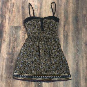 Urban Outfitters Black Patterned Chiffon Dress